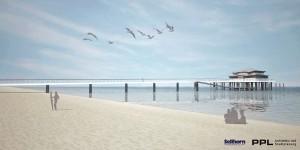 So soll es aussehen: Pläne von Jürgen Hunke für die Teehaus-Brücke