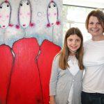 """Mit Tochter bei """"Hedda"""": Künstlerin Beate Prahl"""