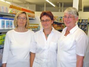 Gabi Hanke, Inge Heidel und Christel Marquard sind täglich für die Kunden da