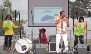 Auftritt an der Seebrücke: Ernest Clinton und Band