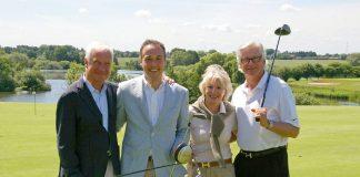 Gregor Wintersteller, Christian von Oven, Dagmar Wintersteller und Ralf Casagrande (von links) freuen sich als Initiatoren über den großen Erfolg des 4. Turniers auf der Seeschlösschen-Golfanlage (Foto: Brigitte Arms)