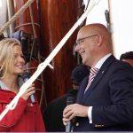 Start mit Prominenz: Ministerpräsident Torsten Albig im Gespräch (Foto: travemedia)