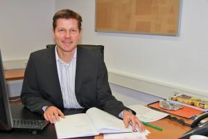 Ein Schreibtisch, der sich füllen wird: Joachim Nitz bringt viele Ideen und Konzepte mit