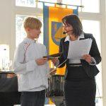 Auszeichnung für den Deutschen Tennismeister in der U12-Konkurrenz, Friedrich Sommerwerk (12 Jahre)