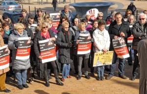 Rund 100 Geschäftsleute aus der Region protestierten gegen die eingeschränkte Sonntagsöffnung