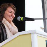 Bürgermeisterin Hatice Kara freut sich über Besucher aus Kiel besonders, wenn sie ihre Anliegen finanziell unterstützen