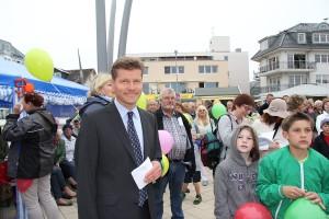 Tourismusdirektor Joachim Nitz moderierte die Eröffnungs-Zeremonie