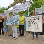 Aus allen betroffenen Dorfschaften kamen Bürger, um zu protestieren