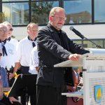 """""""Wir behalten ihn in unserer Mitte"""", sagte Pastor Thomas Vogel in seiner Rede."""