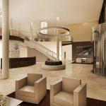 Zukunftsmusik: Ansicht der eleganten Lobby