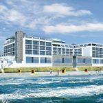 So wird das Hotel Bayside von der Seeseite aussehen