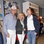 Promi-Empfang: Boxer Axel Schulz, Formel 1-Star Mika Häkkinen und TV-Moderatorin Sabine Christiansen