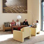 Ein Platz zu Klönen: Die Einrichtung ist modern und behaglich