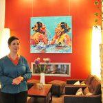 Kunst spielt eine große Rolle: wechselnde Ausstellungen sorgen für Abwechslung