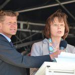 Premieren-Ansprache mit TSNT-Chef Joachim-Nitz, und der stellv. Bürgermeisterin Gudula-Bauer (Foto: K.Gehrke)