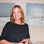 Claudia Küster mit ihren stimmungsvollen Bildern im Wintergarten-Restaurant