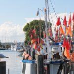 Die bunten Fischkutter prägen noch immer das Bild im Hafen