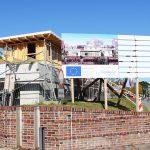 Eine viel versprechende Baustelle: Das Hafen-Informationszentrum soll ein interessanter Treffpunkt werden