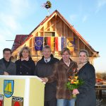 Tourismusdirektor Joachim Nitz, Landschaftsarchitektin Urte Schlie, Martin Scheel (Gemeinde Tdf. Strand), Architekt Marc Schöffel und Bürgervorsteherin Anja Evers