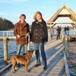 """Urte Schlie und Marc Schöffel auf der """"Rundbrücke"""" am Fischereihof"""