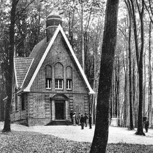 So sah die Timmendorfer Waldkapelle 1958 aus.