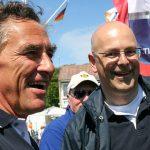 """Wie schon zur 122. Travemünder Woche treten auch diesmal Ministerpräsident Torsten Albig und Bürgermeister Bernd Saxe beim """"Rotspon-Cup"""" gegeneinander an"""