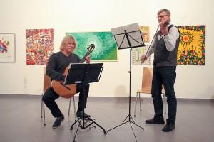 Für die musikalische Einstimmung sorgen Gunter Klengel und Eberhard Jänisch-Sauerland