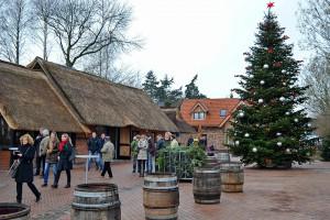 Weihnachtliche Stimmung auf den Fischereihof-Gelände: Kaum zu glauben, dass hier vor Kurzem noch eine Baustelle war!