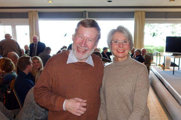 Helga Vocke und Peter Kappel freuen sich über einen gelungenen Neujahrsempfang