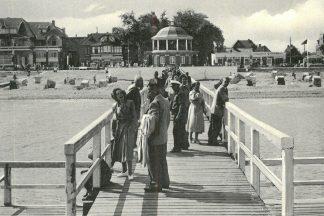 So war es damals:Niendorfer Seebrücke, Foto aus dem Jahr 1952