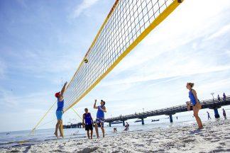 Im Juli und im August gibt es wieder ein Beachvolleyball-Turnier in Scharbeutz (Foto © TALB)