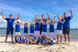 Riesenspaß bei Superwetter: Fußballcamp am Scharbeutzer Strand (Foto © TALB)