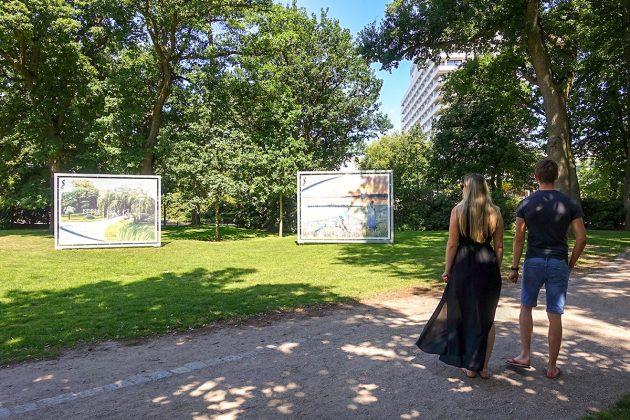 GroÃe Kunst in Mega-MaÃen schmückt den Strandpark an der Kurpromenade
