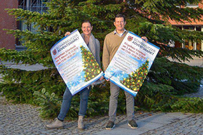 Sie haben alles organisiert und laden zum Scharbeutzer Adentsmarkt ein: Thomas Albertin & Denise Daude-Oster