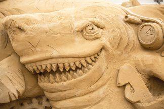 Der lachende Hai ist auch dabei: Das Festiva findet ab 11. Mai am Baggersand statt © Sebastian John