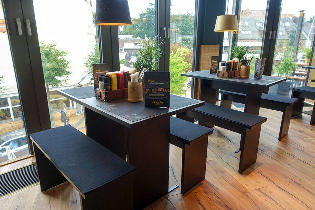 """""""Dieser Ausblick ist nicht zu toppen"""", freuen sich die Mitarbeiter: die Fensterplätze liegen direkt über dem Timmendorfer Zentrum"""