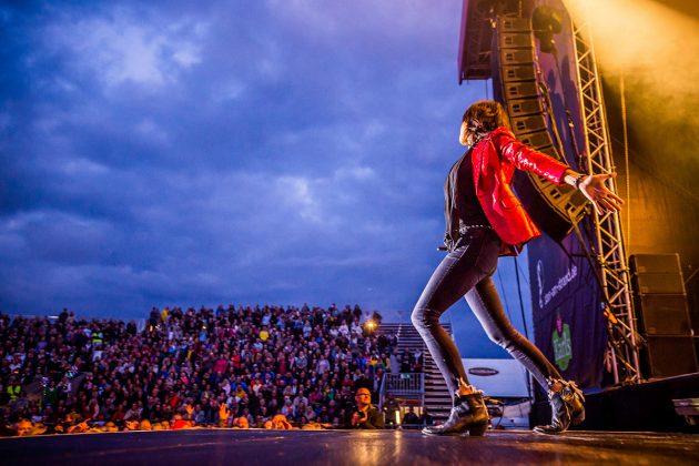 Nena kam, und die Fans waren begeistert. Mit 40 Jahren Bühnenerfahrung weià sie, wie man das Publikum begeistert © TSNT