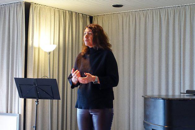 Bettina Schäfer begrüÃte die Klingberger. Sie wird ab Februar das Bürgermeisteramt in Scharbeutz übernehmen.