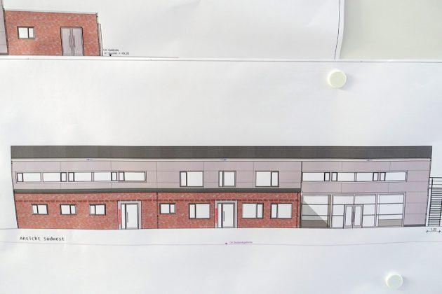 So wird das Gebäude von Südwest aussehen - schlicht, modern und mit viel Platz für Feuerwehrleute und Bürger