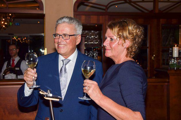 Volker Owerien und seine Lebensgefährtin Gabi Horn bei der Feier im Hotel BelVeder © Katrin Gehrke