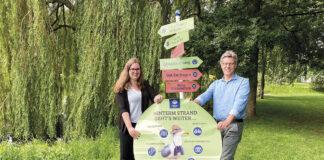 Anne Heuermann, Projektmanagerin und André Rosinski , Vorstand der TALB empfehlen Ausflüge ins Binnenland