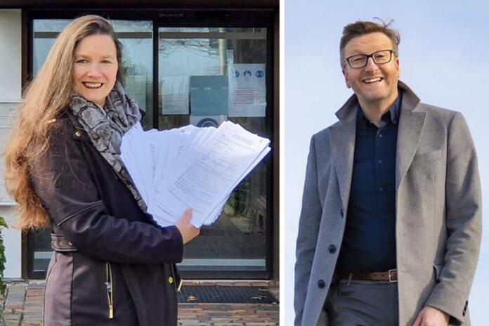 Melanie Puschaddel-Freitag ist als bislang stellvertretende Bürgermeisterin mit der Arbeit im Rathaus schon vertraut. Sven Partheil-Böhnke will sich als Bürgermeister mit Fachkenntnis und Führungs-Erfahrung für die Gemeinde einsetzen.
