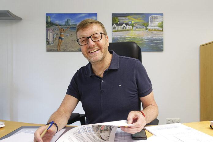 Sven Partheil-Böhnke will als neuer Bürgermeister von Timmendorfer Strand neue Wege zum ausgewogenen Miteinander von Tourismus und Bürger-Gemeinschaft gehen.